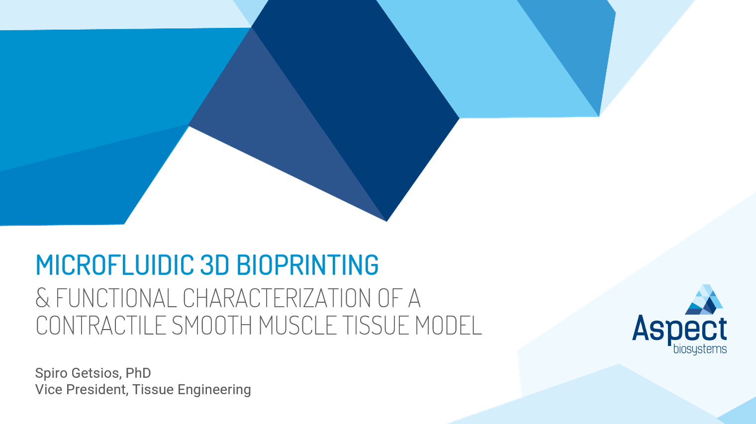 Webinar: Microfluidic 3D bioprinting & functional characterization of a contractile smooth muscle tissue model